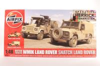 """British Forces Land Rover twin set with Land Rover """"Snatch"""" & Land Rover Wolk WIMIK with British Army marking transfers - Pre-owned - Like new"""