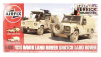 "British Forces Land Rover twin set with Land Rover ""Snatch"" & Land Rover Wolk WIMIK with British Army marking transfers"