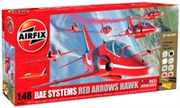 Red Arrow Hawk Gift Set including BAe Hawk T1 with Red Arrows marking transfers for all current aircraft