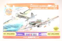 Dogfight Double Ju88 with Luftwaffe marking transfers and Hurricane MkI with RAF marking transfers - Pre-owned - imperfect box