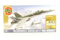 McDonnell Douglas F-18A Hornet with USAF marking transfers - Pre-owned - Airfix token cut out