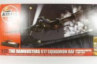 Dambusters Gift Set including Lancaster BIII Special with 617 Squadren marking transfers and German Dam display base - Pre-owned - Imperfect box, paints bag has been opened