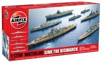 Sink the Bismarck! set with HMS Cossack, HMS Suffolk, HMS Hood, Bismarck, HMS Ark Royal and Prinz Eugen