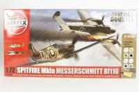 Dogfight Double Spitfire MkIa with RAF marking transfers & Messerschmitt BF110C/D with Luftwaffe marking transfers - Pre-owned - Like new