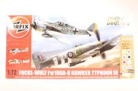 Dogfight Double Focke Wulf Fw190A-8 & Hawker Typhoon Ib - New Tool for 2013 - Pre-owned - imperfect box