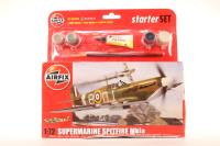 Supermarine Spitfire MK1a with RAF marking transfers. - Pre-owned - imperfect box