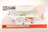 Harrier GR7 & Sea Harrier FA2 - Ltd Edition Club Model - Pre-owned - Some parts broken away from grid - Imperfect Box
