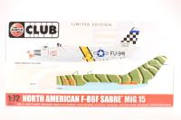 F86F Sabre and Mig15 Jet Fighters - Pre-owned - imperfect box