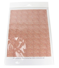 Self Adhesive Sheet - Red Brick 20 x 25cm - Pack of 10