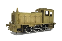 Class 03 diesel shunter with conical exhaust in brass (Brassworks Range)