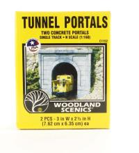 Single Track Tunnel Portals - Concrete - Pack Of 2