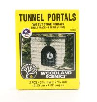 Single Track Tunnel Portals - Cut Stone - Pack Of 2