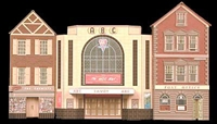 Cinema, Post Office & Shop (low relief)