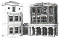 Regency period shops and houses (low relief)