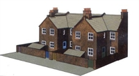 4 Redbrick terraced house backs (low relief)