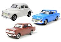 Car Set 2 with Morris Minor, Ford Anglia & Vauxhall Viva (alternate colours to CR1003). Non limited