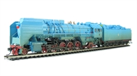Chinese Rlys QJ 2-10-2 steam loco & tender in blue