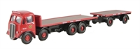 "AEC mammoth Major flat with flat trailer ""BRS"" - New casting"