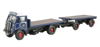 "AEC 4w Flatbed with Flat Trailer - ""Pickfords"""