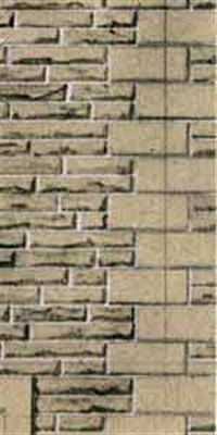 Building papers - Grey sandstone walling.