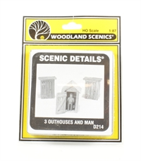 3 Outhouses & Man