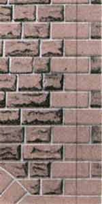Building papers - red sandstone walling (Ashlar style)