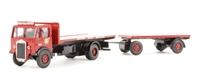 Albion CX3 flatbed & drawbar trailer 'BRS' (circa 1948-1958)