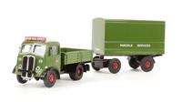 AEC Ballast tractor & drawbar van trailer 'BRS Parcels' (circa 1948-1958)