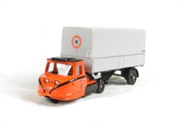Scammell Townsman in CIE Irish Rail livery with box trailer