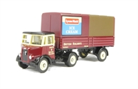 Thornycroft nippy in British Railways livery with Lyons Maid Ice Cream branding.