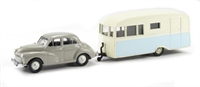 Morris Minor & Bluebird Dauphine caravan