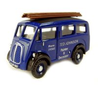 "Morris J van in ""Ted Johnson Painter & Decorator"" in blue livery"
