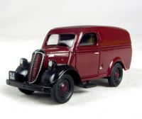Ford E83W 10 cwt van in maroon