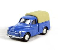 Morris Minor pickup with rear cover in blue
