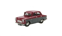 Ford Prefect 107E 4-door saloon in maroon & grey with sun visor and GB plate
