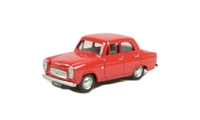 Ford Prefect 100E 4-door saloon in red