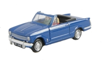 Triumph Herald 13/60 convertible in blue. Hood down