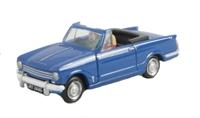 Triumph Herald 13/60 convertible in blue. Hood down