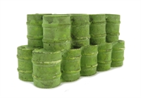 Stack of Oil Drums, green