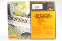 5 metres of realistic grey ballasted OO gauge underlay - Pre-owned - imperfect box