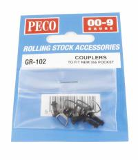 Pack of four NEM couplings for OO9 rolling stock