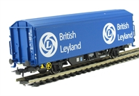 Modified ZBX British Leyland ferry wagon ADB787183. HO with British couplings