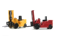 Pack of two Forklifts - 1 red & 1 yellow
