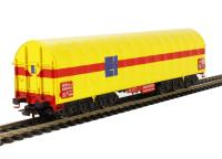 Steel Transport Wagon with yellow sliding tarpaulin DB Epoch VI