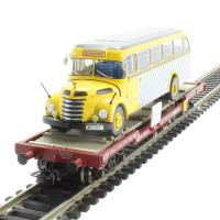 Flat Wagon OBB With Omnibus Graef+Stift Vers.2 . Era 5