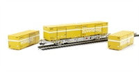 "Special Set Flat Wagon With Container ""Swiss Post"" Era 5"