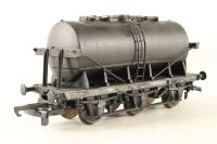 6-Wheel Tank Wagon - Plain Black Livery - Pre-owned - Weathered, Repainted & Renumbered - Given different running numbers on each side - Imperfect Box
