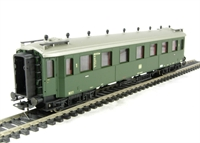 Type Badish Bauart 1st class coach of the German DB in green livery - Epoch 3