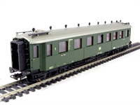 Type Baden Bauart mixed class coach of the German DB in green livery Epoch 3