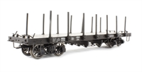Flat Wagon with Stanchion Black